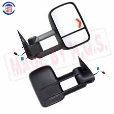 Pair Towing Power Heated LED Signal Mirrors Set For 03-06 Silverado Tahoe New