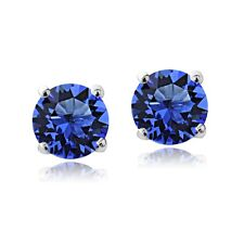 Swarovski Elements Sapphire September Birthstone Stud Earrin