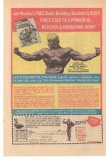 1972 Joe Weider's Body Building Booklet Advertisement