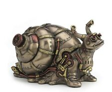 "6.75"" Steampunk Giant Land Snail Trinket Box Gothic Statue Animal Decor"