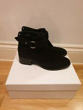 & Other Stories Size 6 Suede Heeled Ankle Boots with buckle and adjustable strap