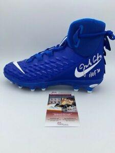 Jim Covert Signed New Nike Blue Cleat JSA COA Pic Chicago Bears HOF 03