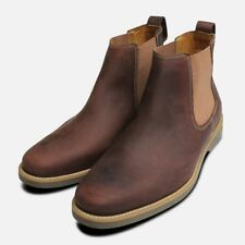 Waxy Brown Plain Chelsea Boots by Anatomic & Co