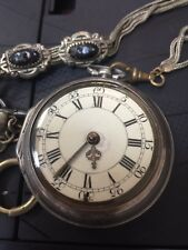 ANTIQUE W.M. MORRIS OF LONDON FUSEE POCKET WATCH J. REYNOLD SILVERSMITH #BW18
