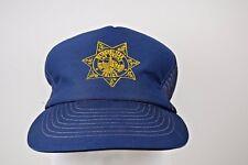 Metropolitan Police Las Vegas Blue Snapback Trucker Hat Screen Print Logo