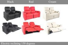 Electric Recliner Chair Sofa Lounge 2 Seater Loveseat Couch Moveable Armrest