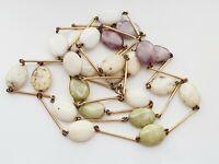 "Vintage 1950s 53"" Glass  Flapper Necklace"