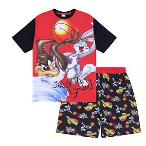Looney Tunes Space Jam Taz Daffy Duck Elmer Fudd Official Mens Short Pajamas