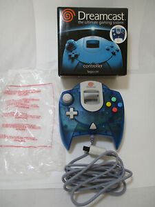 New Sega Dreamcast Clear Blue Controller With Box