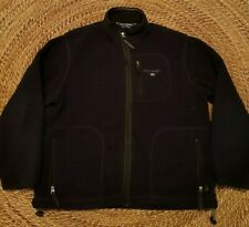 Vintage 90's Polo Sport Full Zip Navy Blue Fleece Jacket Mens Size Large Warm