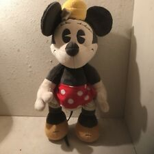 "Vintage Disney Minie Mouse Jointed ""buddie"" Stuffed Animal."