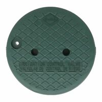 "Dura Round Sprinkler Valve Box Replacement Lids Size:10"" Color:Green"