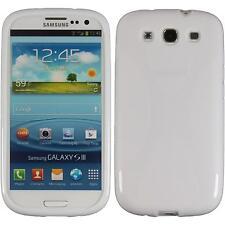 Coque en Silicone Samsung Galaxy S3 - X-Style blanc + films de protection
