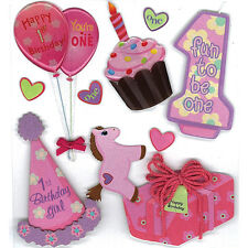 EK SUCCESS JOLEE'S BOUTIQUE 1st BIRTHDAY BABY GIRLS FIRST#2 SCRAPBOOK STICKERS