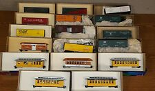 Lot of 17 Vintage HO Scale Roundhouse refrigerator, boxcar, and Coach car kits