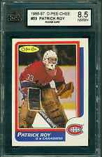 1986 87 OPC #53 PATRICK ROY ROOKIE CARD KSA 8.5 NM/MT+ CANADIENS