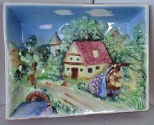 Vintage Japan Ceramic 3-D Picture Landscape  Wall