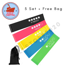 Resistance Gym Loop Bands Strength Fitness Exercise Yoga Workout Pull Up Set