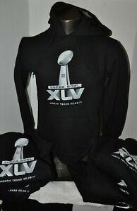 NF Black Super Bowl XLV Men's Hoodie Sweatshirt Sizes Small & Medium New W Tags