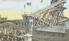Vintage Postcard-Bamboo Slide, Long Beach, CA