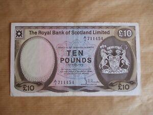 ROYAL   BANK  OF  SCOTLAND   £10  NOTE,  A/1,  1974.