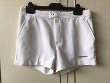 "Vintage Donnay Men Boys White Shorts Tennis Sports Squash Holiday Size Waist 32"""