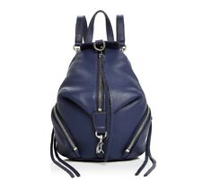 NWT REBECCA MINKOFF Julian Mini Convertible Leather Backpack Shoulder Bag NAVY