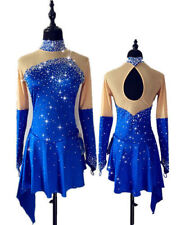 Ice Figur Skating Dress Competition Baton Twirling Dance Dress Made To Fit H106