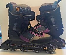 K2 Carbon Power Soft Boot Extreme Power Roller Blades Womens Size 7