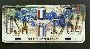 USA Mustang 1964 License Plate