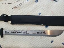 "Ari Lehman Signed Jason ""Friday the 13th"" Genuine 18"" Steel Machete with Sheath"