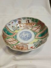 Antique 1860? Old Imari-ware Flowers Japanese Lady Pattern Ornamental Plate/Dish