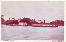 Brazil Brasil Rio de Janeiro Ilha de Paqueta - Ponte das Barcas old postcard