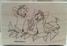 """New House Mouse """"Angel Mice"""" WM Rubber Stamp"""
