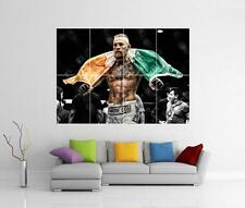 Conor McGregor UFC KO Irlanda Bandera Gigante Pared arte cartel impresión de imagen de foto
