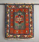 "Vintage Caucasian Fachralo kazak Rug nomad tribal carpet 3'10"" x 4'5″ 118x135cm"
