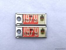 1979 QUEBEC Vintage Mini License Plate WAR AMPS KEY TAG PAIR # 1509520