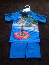 BNWT Baby Boys 18-23 Months Blue Multi UPF 40+, 2 Piece Seim Suit