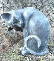"""Latex cat  mold plaster concrete cement mould 7""""H x 4.5"""" x 3.5"""""""