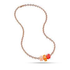 Collares y colgantes de bisutería de oro rosa de cristal