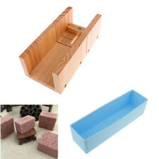 Handmade Wood Soap Mold Cutter Slicer Tool Set with Rose Loaf Silicone Mold
