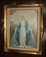 OUR LADY OF GRACE Wood FRAMED Print 16 x 19 3/4 in  MARY MOTHER