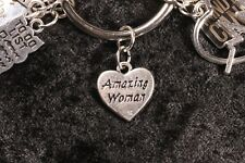 YOU are an AMAZING WOMAN! Heart Shaped Charm for your Weight Watchers Ring