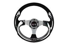 Silver Black 320mm Elevo CNC steering wheel fit HKB Momo OMP Sparco boss kit