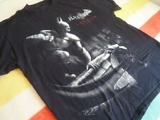 BATMAN Arkham City T-Shirt Tee Graphic Mens XL Black EUC 100% Cotton