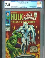 Tales to Astonish 93 CGC 7.5 1st Full Silver Surfer app outside FF Classic cover