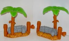 Set 2 Replacement Fisher Price Christmas Nativity Palm Trees & Stone Wall /Fence