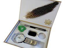 Aktion: Set mit Herren Armbanduhr, Schlüsselanhänger, Kugelschreiber, inkl. Deko