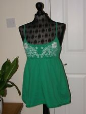 Good Green Cotton Summer/Sun/Strappy/Vest Top by Papaya in Size 10