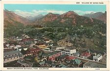 Village of Estes Park in Rocky Mt. National Park CO Postcard